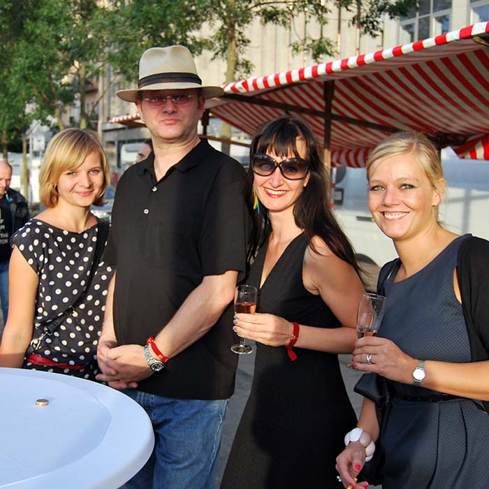 Friederike Graesser, Wolfgang Beinert, Alex Beulke und Christina Sautter.
