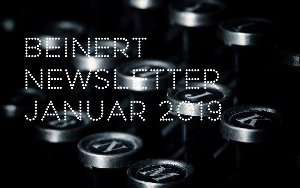 Wolfgang Beinert | Newsletter : Januar 2019