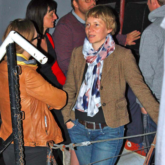 Alexandra Beulke und Ingrid Marie Manier beim Sommerfestvon Wolfgang Beinert und den Berliner Gestalten am 23. August 2013 im Historischen Hafen von Berlin.