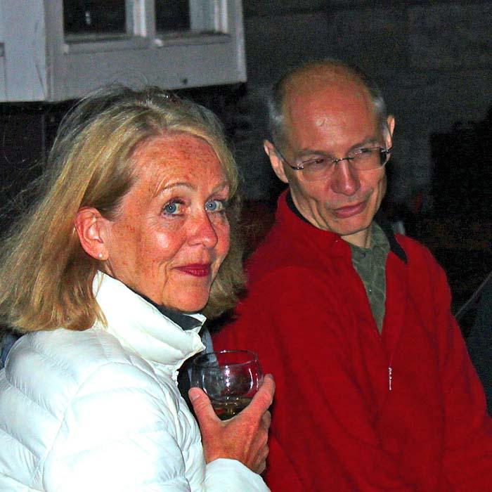 Elsa von Rahden und Frank Ilchmann beim Sommerfestvon Wolfgang Beinert und den Berliner Gestalten am 23. August 2013 im Historischen Hafen von Berlin.
