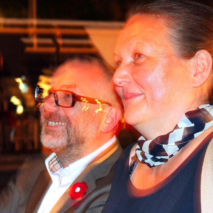 Boris Hoffmann Plato und Viola Vietze beim Sommerfestvon Wolfgang Beinert und den Berliner Gestalten am 23. August 2013 im Historischen Hafen von Berlin.