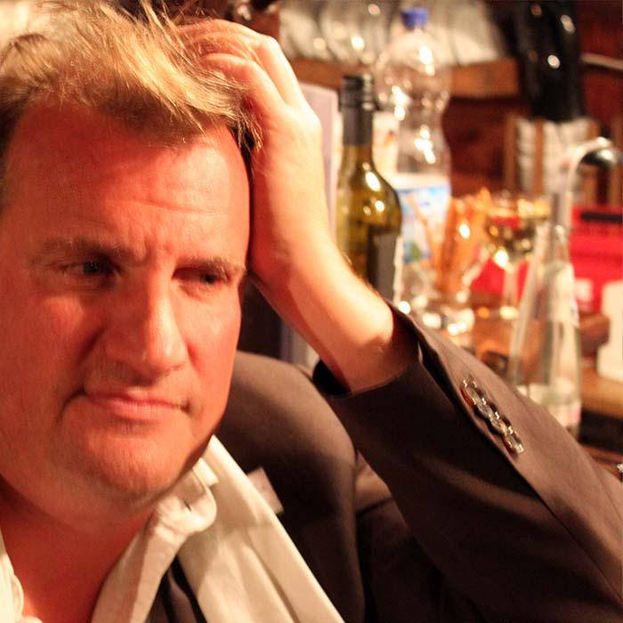 Max Hiller beim Sommerfestvon Wolfgang Beinert und den Berliner Gestalten am 23. August 2013 im Historischen Hafen von Berlin.