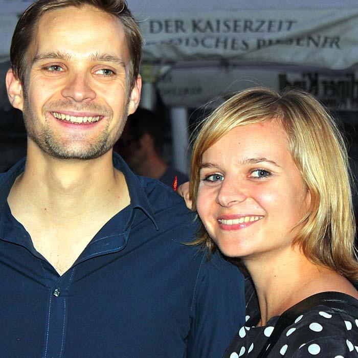 Philipp und Friederike Gräßer beim Sommerfestvon Wolfgang Beinert und den Berliner Gestalten am 23. August 2013 im Historischen Hafen von Berlin.
