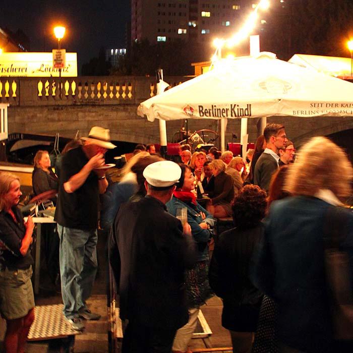 Sommerfestvon Wolfgang Beinert und den Berliner Gestalten am 23. August 2013 im Historischen Hafen von Berlin.