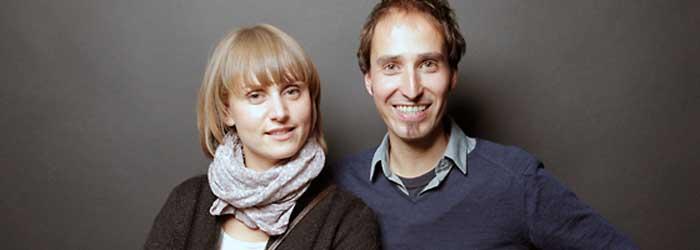 Anne Hofmann (Studentin Kommunikationsdesign, Fachhochschule Potsdam) und Thomas Schneider (schneider kommunikationsdesign, Berlin).