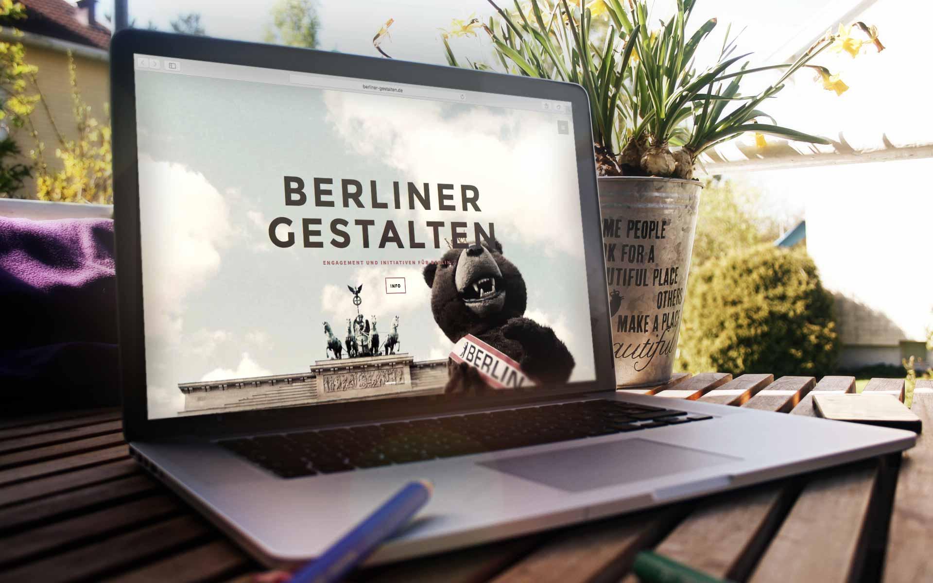 Die Berliner Gestalten sind eine informelle, unabhängige und ehrenamtliche Non-Profit-Plattform, die ehrenamtliches, soziales und bürgerliches Engagement für Berlin fördert und ermöglicht. Neben eigenen Initiativen unterstützen wir gemeinnützige Projekte und Organisationen, die sich in Berlin für gesellschaftliche Belange engagieren und die das Gemeinwohl fördern. Infos unter http://www.berliner-gestalten.wolfgang-beinert.de