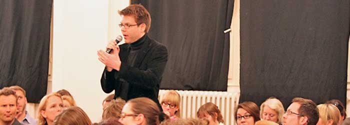 Dirk Kiefer (Kompetenzzentrum Kultur- und Kreativwirtschaft des Bundes, Berlin): »… nur in Netzwerken können es die Kreativen schaffen …«.