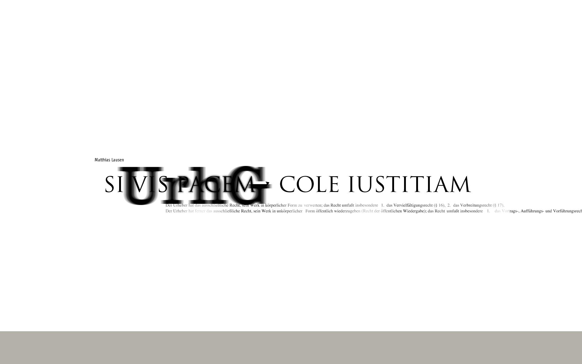 Ateliergespräch mit dem Rechtsanwalt Dr. Matthias Lausen über »Das neue Urheberrecht – oder wie Kreative und ihre Auftraggeber Ärger vermeiden« am 10. Oktober 2002 im Atelier von Wolfgang Beinert in München.