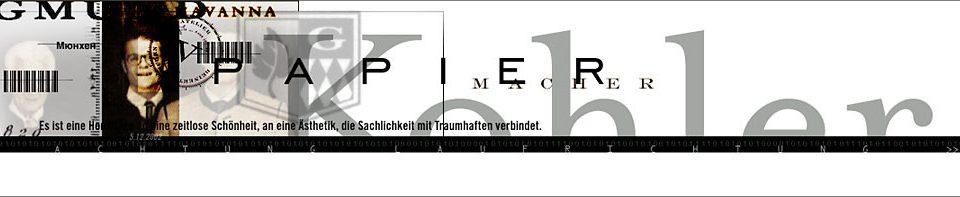 Original Header aus dem Jahre 2002 für die Einladung zum Ateliergespräch mit Florian Kohler im Atelier von Wolfgang Beinert in München.