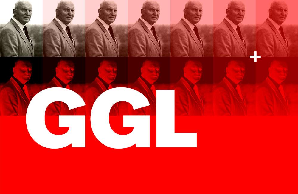 Der Typograf und Schriftgestalter Günter Gerhard Lange (1921–2008) war über Jahre hinweg der künstlerische Leiter der H. Berthold GmbH. Im grafischen Gewerbe galten die drei Buchstaben »GGL« gewissermaßen als sein Markenzeichen, vorzugsweise weiss auf rot, denn das waren die Hausfarben der Font Foundry Berthold.