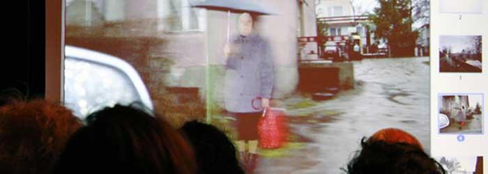 Zum Schluss zeigte Jo Röttger noch Motive aus der Reportage »Masuren«. Er folgte dabei den Spuren der Flucht von Marion Gräfin Dönhoff (1909–2002), einst Mitherausgeberin der Wochenzeitung »Die Zeit«.