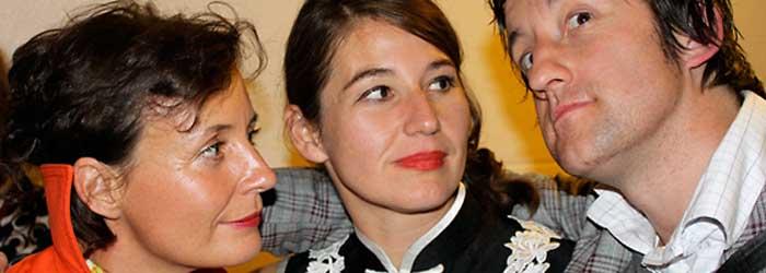 Susanne Wagner (Frau Wagner Modedesign, Berlin), Orkide Ergün (ORKIDEE Trendbasierte Markenentwicklung, Berlin) und »Herr Timmermann« (Begleitung von »Frau Wagner«).
