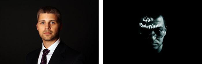 Die Zusammenarbeit des IR-Spezialist Thorsten Wittmeier (linkes Bild) und des Grafikdesigner Wolfgang Beinert (rechtes Bild) konzentriert sich auf die strategische Investor Relations und deren visuelle Implementierung. © Fotos: Wolfgang Beinert, Berlin.