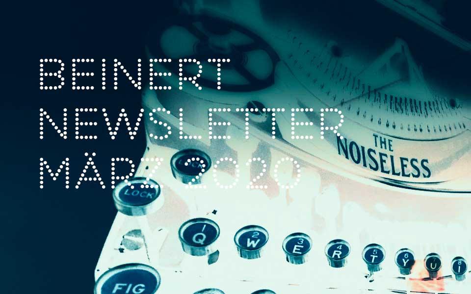 Wolfgang Beinert | Newsletter : März 2020