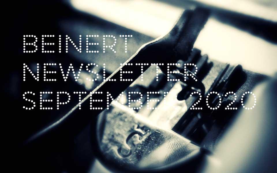 Wolfgang Beinert | Newsletter : September 2020