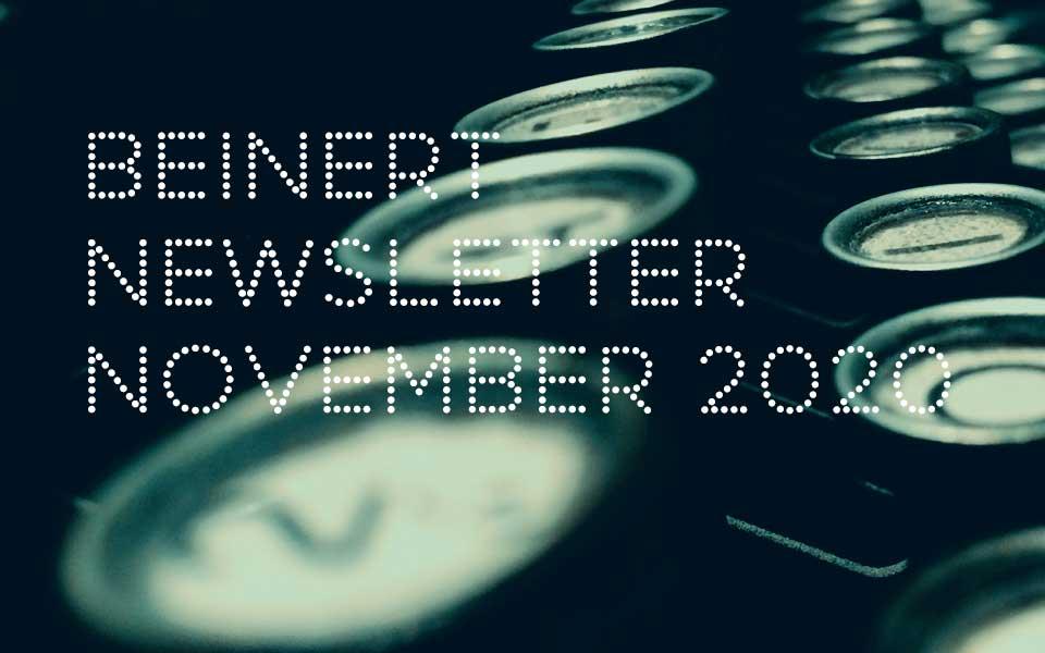 Wolfgang Beinert | Newsletter November 2020