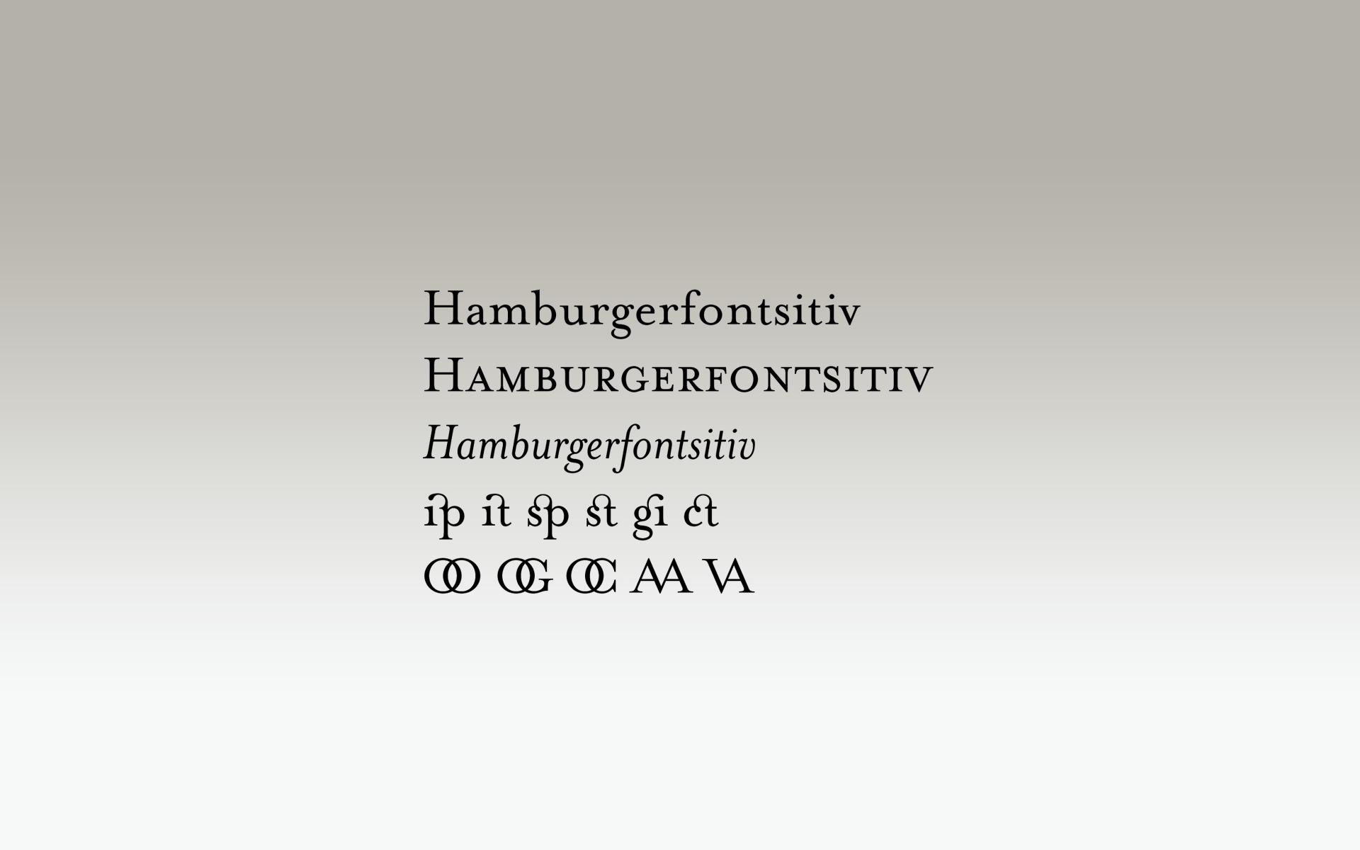 Gmund Papier, Schrift Mrs. Eaves für Corporate Design »Gasthof Jennerwein«.