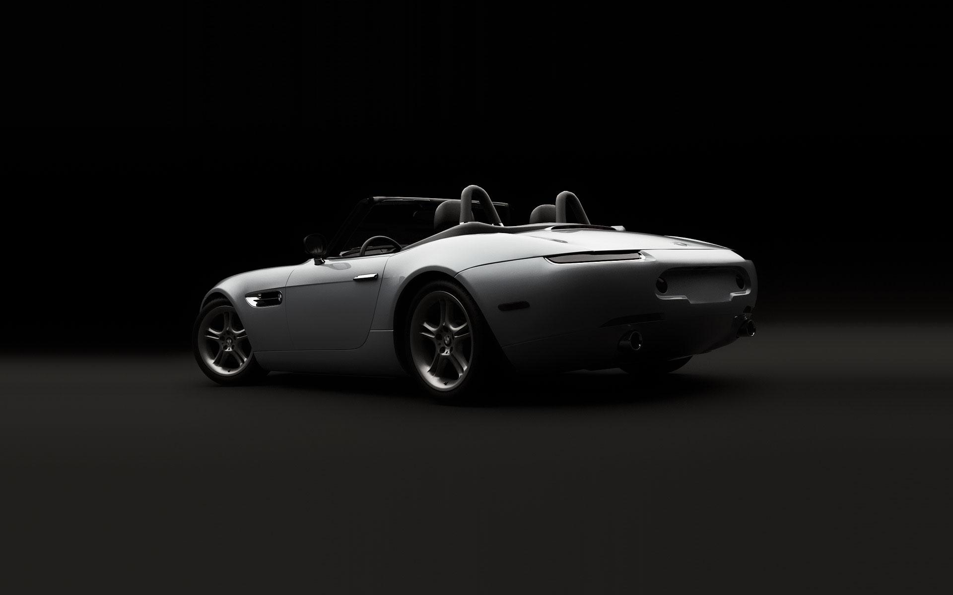 BMW, Editorial Design für Präsentation des BMW Z8 Roadster (E52, Heck) in Detroit, USA.