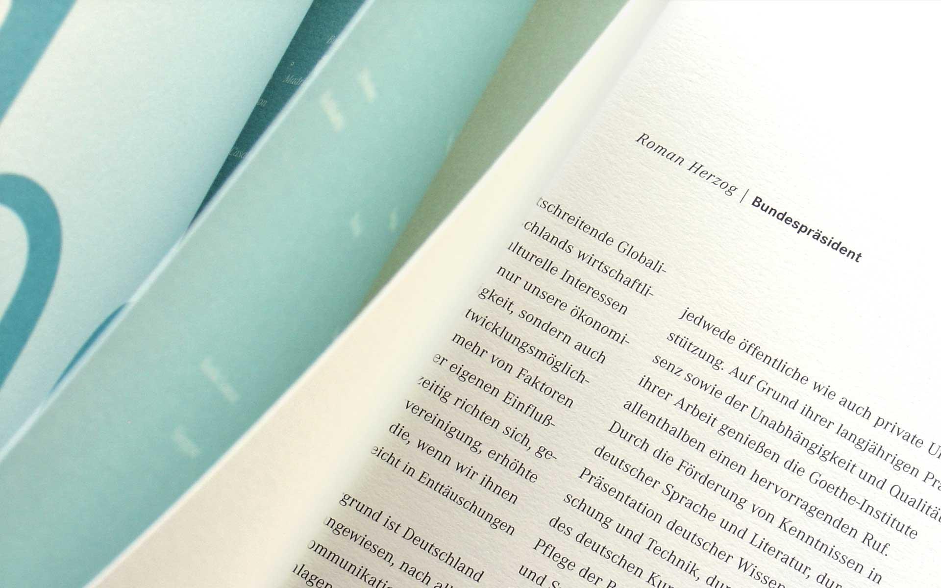 Goethe-Institut, Broschüre für das Sponsoring, um 1998.