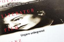 Goethe-Institut, Flyer »Ungarn unbegrenzt«, 1999.