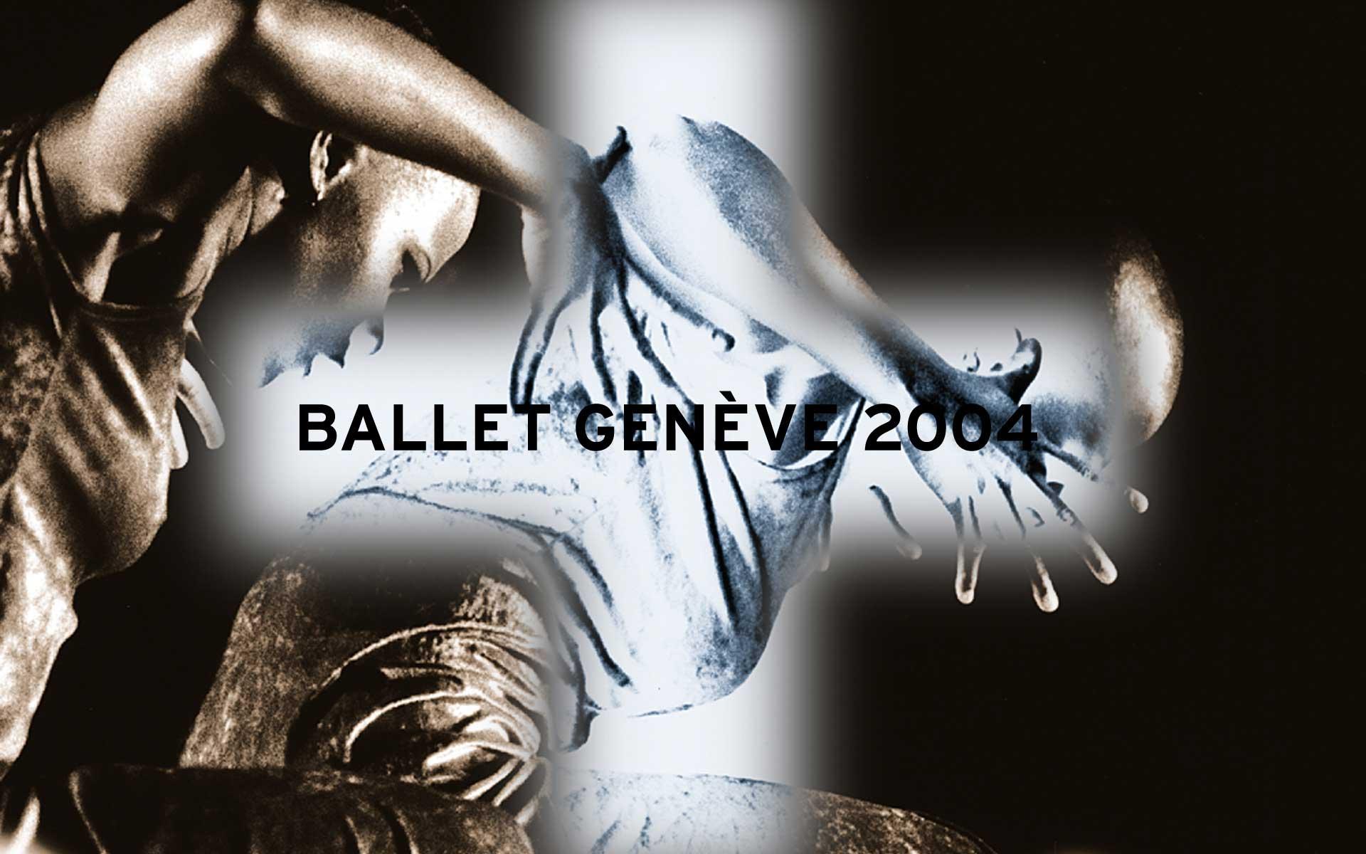 Ballet Geneva, Schweiz. Plakat für ein Tanzfestival.