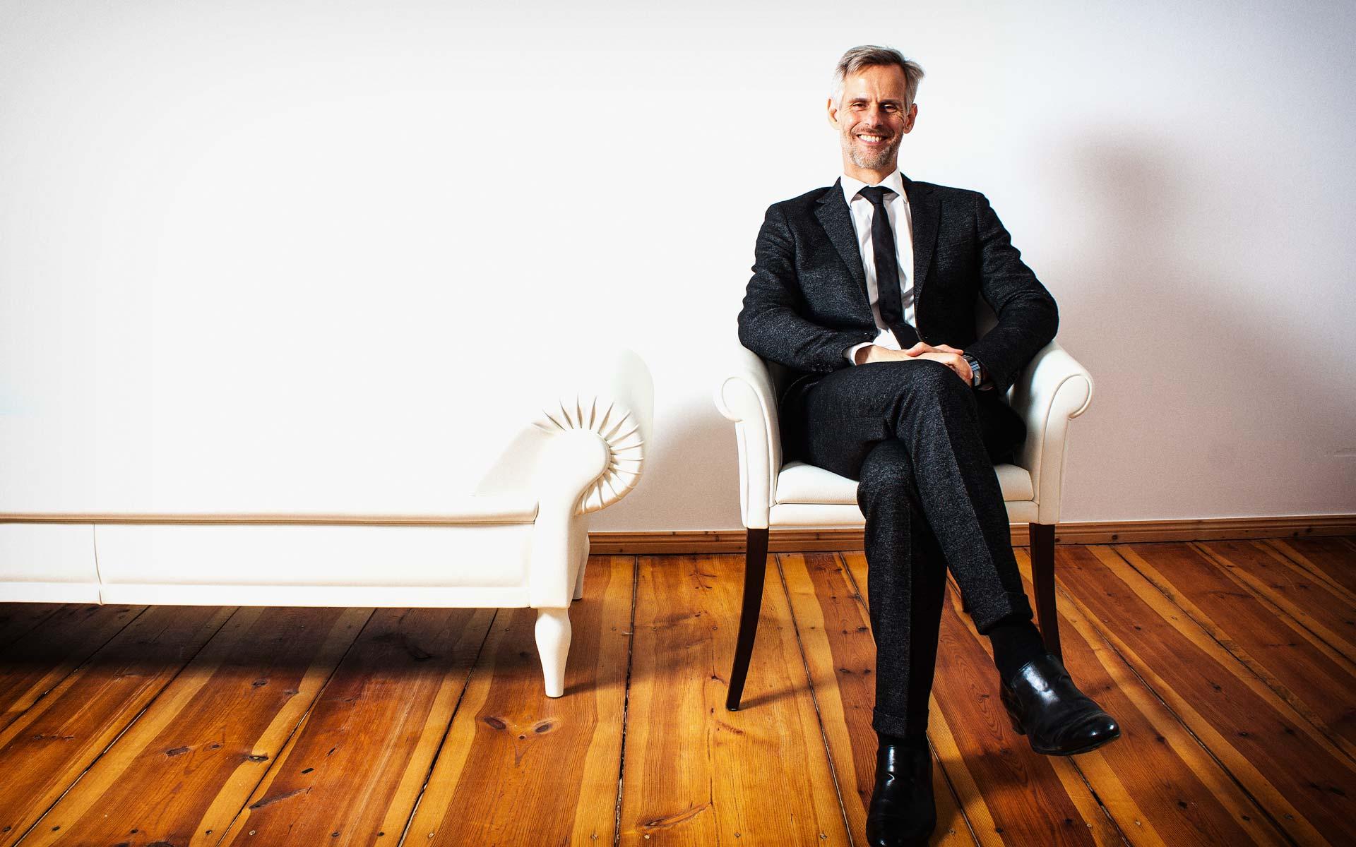 Portraitfotografie für Prof. Dr. Kai Hammermeister, Psychoanalytiker und Psychotherapeut, Berlin.