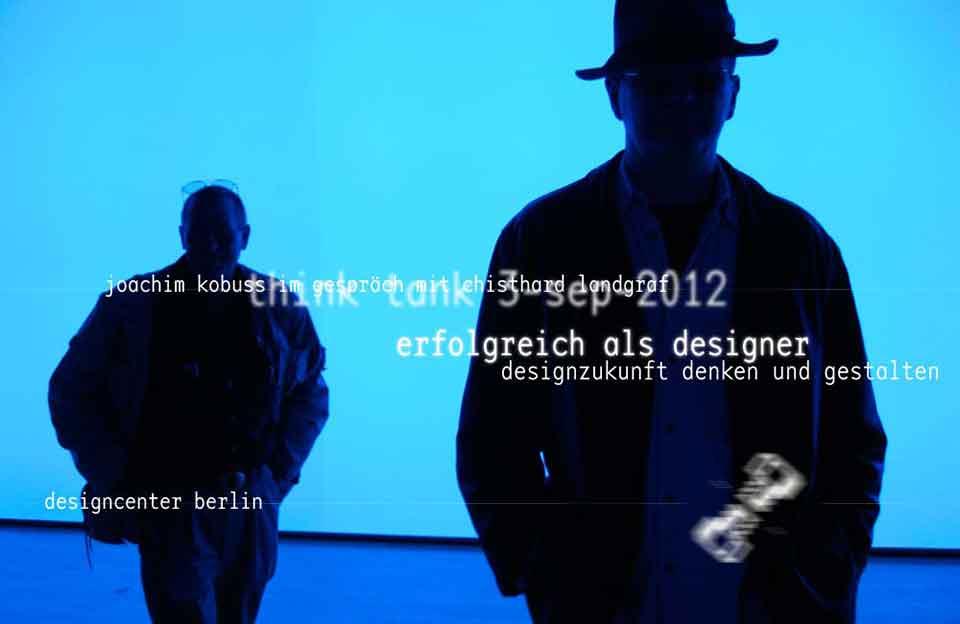 Berliner Gestalten, Webbanner »Designcenter Berlin – Zukunft denken und gestalten« im September 2012.
