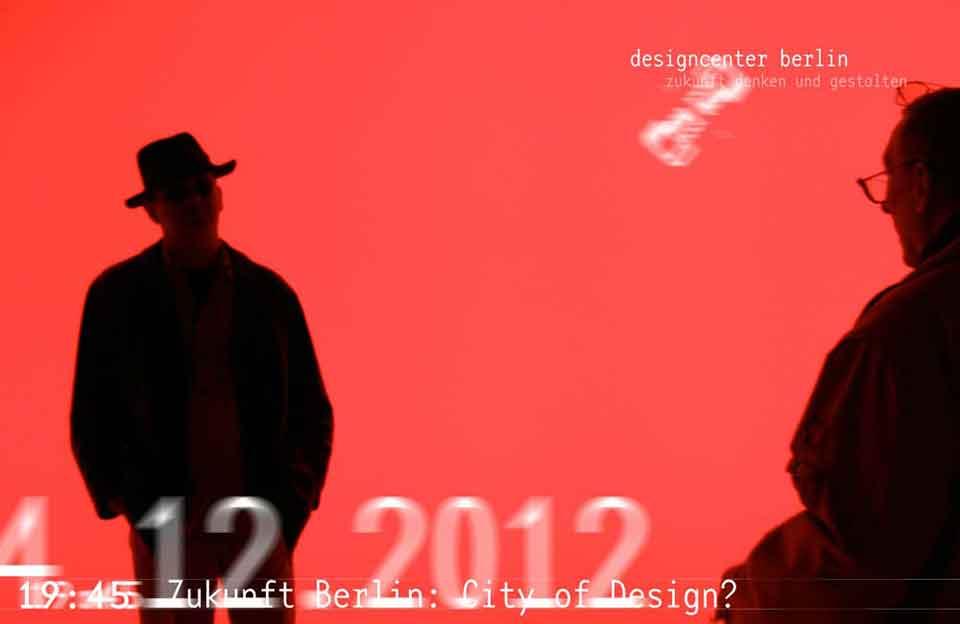 Berliner Gestalten, Webbanner »Designcenter Berlin – Zukunft denken und gestalten« im Dezember 2012.