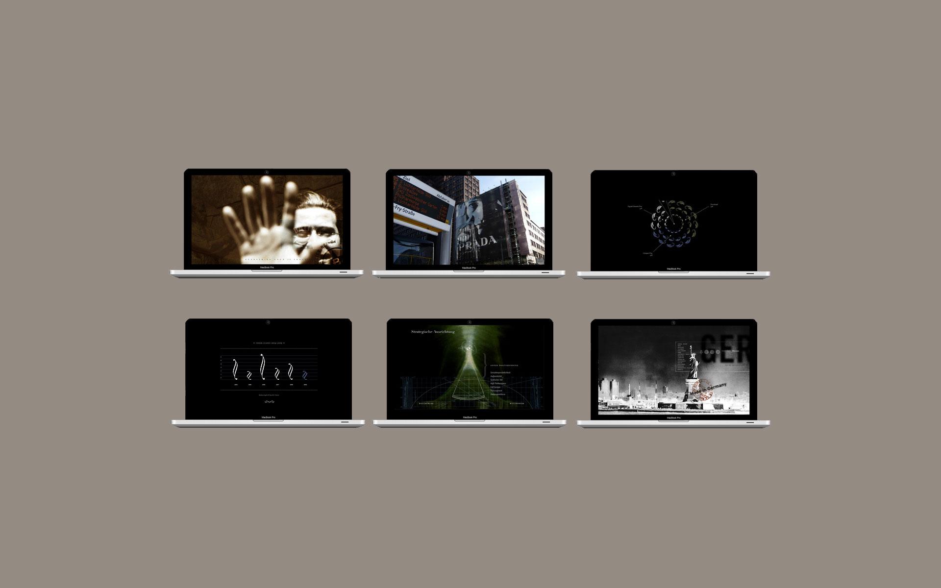 PowerPoint, Folien für unterschiedliche PowerPoint-Präsentationen.