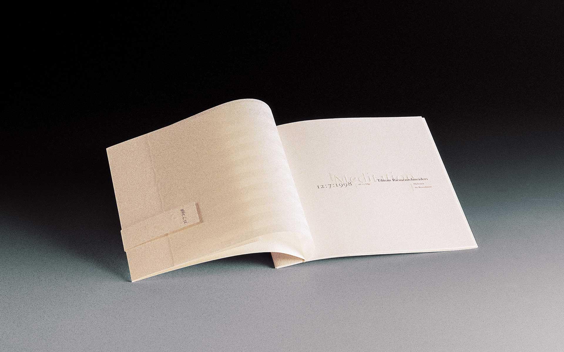 HypoVereinsbank, Doppelseite der Einladung »Meditation in Worten und Tönen« des Vorstandsvorsitzenden (CEO).