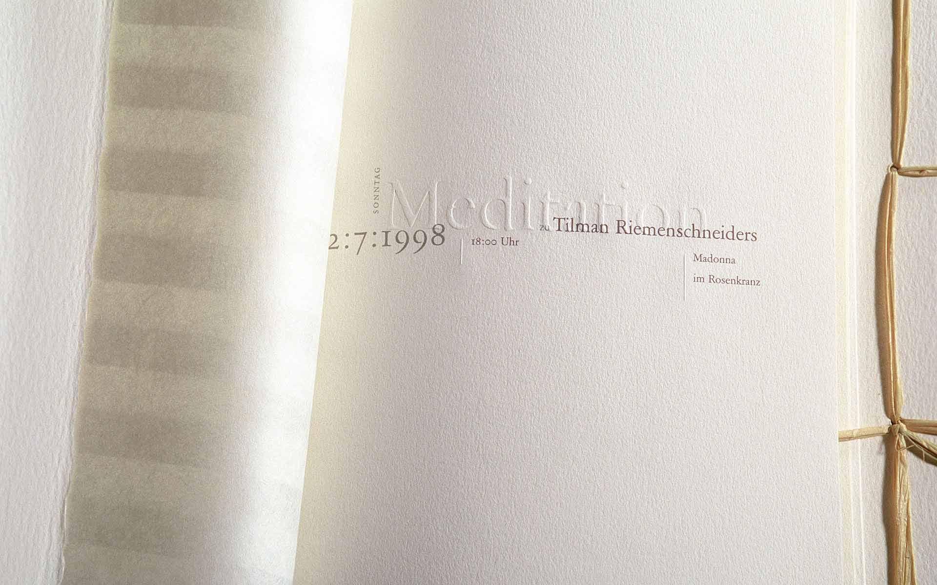 Design einer Broschüre für die HypoVereinsbank, München.