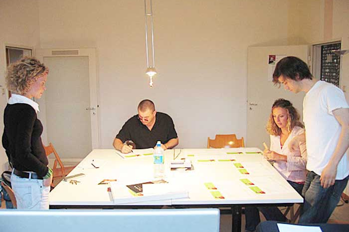 Hochschule München, Designcenter München, Projektzentrum für Design und Fotografie, Vorbereitungen zum Opening, 2005–2006.