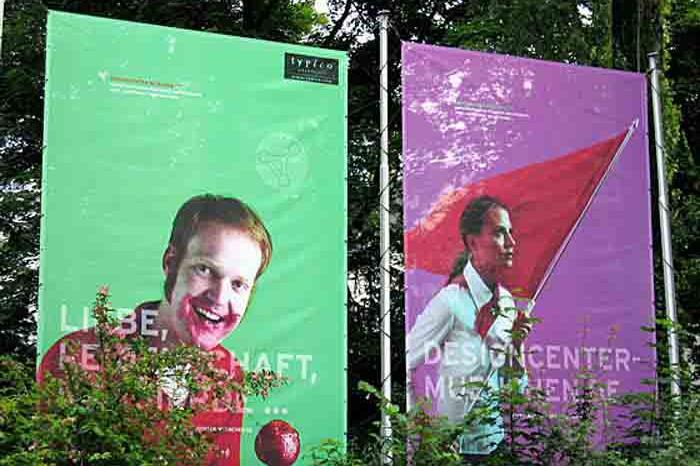 Hochschule München, Designcenter München, Projektzentrum für Design und Fotografie, Megaposter, 2005–2006.