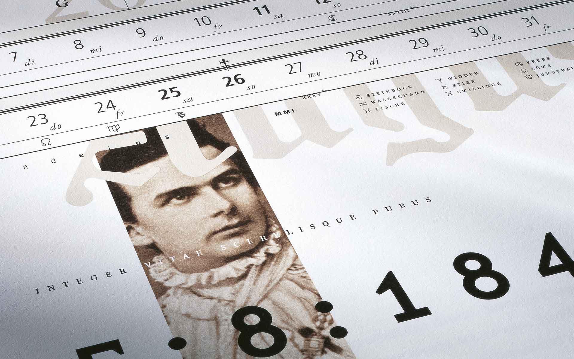 Münchener Hypothekenbank, Kalender »König Ludwig II. von Bayern«. Kalenderblatt August.