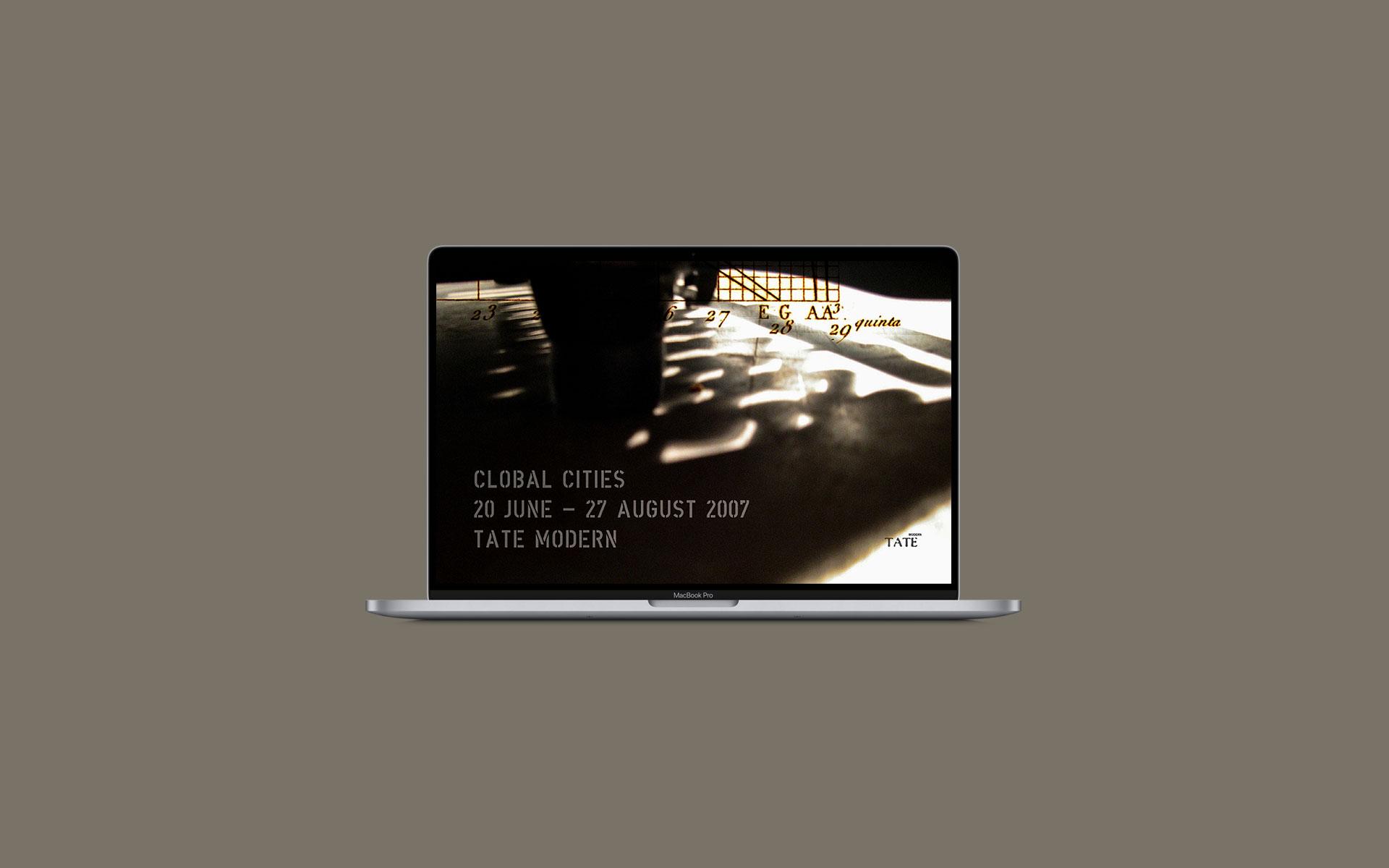 Tate Modern, Screen Design für eine Online-Kampagne.