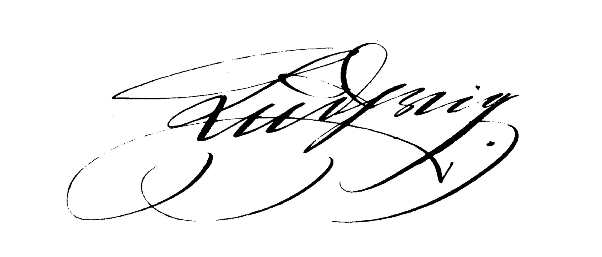 Unterschrift von König Ludwig II. von Bayern