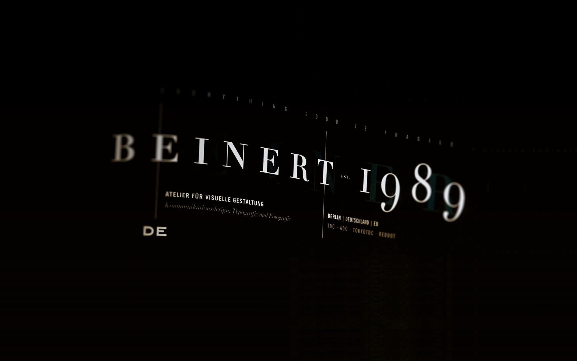 Beinert | Atelier für visuelle Gestaltung : Grafikdesign, Typografie und Fotografie, Berlin.