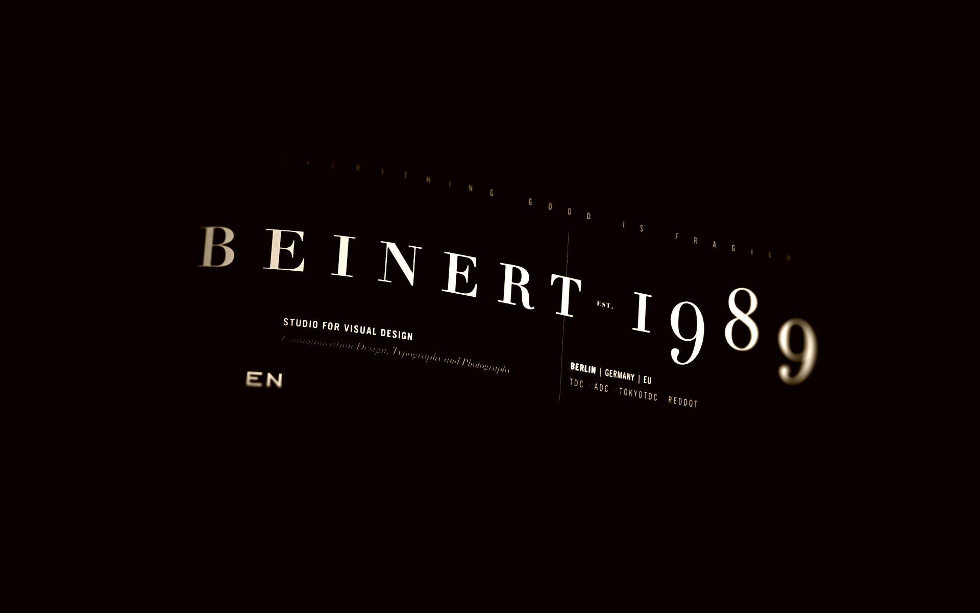 Studio Beinert | Berlin : Studio for Visual Design