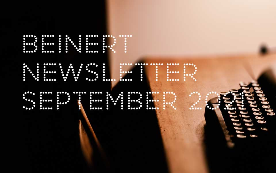Wolfgang Beinert | Newsletter September 2021