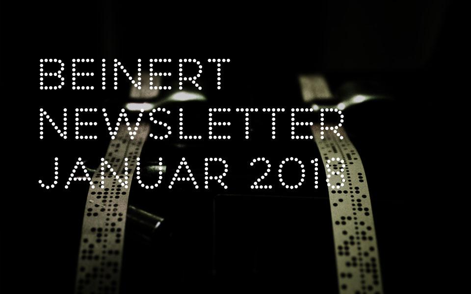 Wolfgang Beinert | Newsletter : Januar 2018