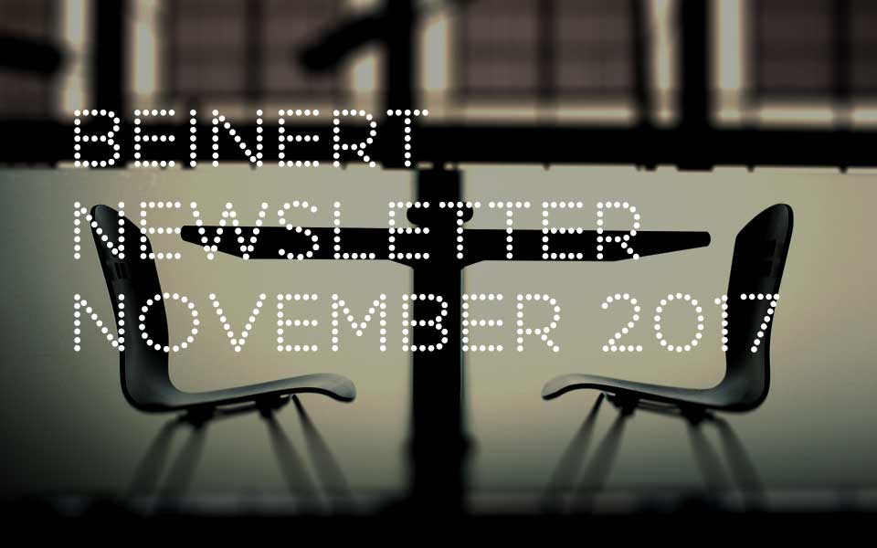 Wolfgang Beinert | Newsletter : November 2017